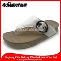 big fivela de cinta do salto elevado folding cunha sandálias flip flop branco sola de tpr para o casamento