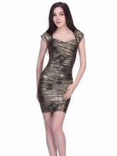 2014 new sexy beautiful mature women bandage dress