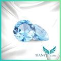 anillo de compromiso de piedra de color azul aguamarina espinela piedras preciosas