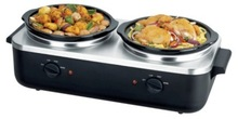 2X3qt round ceramic pot electric slow cooker