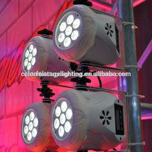 Nice design !!!Quad color 7x10W RGBW Slim LED Par Lighting for disco,clubs, hotels