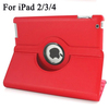 360 Degree Rotating Leather Wake/Sleep Case with Stand for New iPad