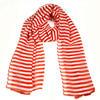 Fashion lady colorful waven red white stripe scarf