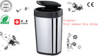 Hot sale stainless steel Automatic sensor touchless recycling bin 30L