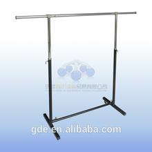 Hot sale metal chrome adjustable garment rack for shop