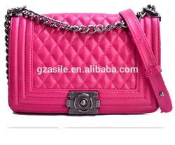 Sheep Skin Leather Zipper Lock Bag China Bag Manufacturer