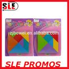 Plastic PVC paper board wooden tangram, jigsaw puzzle