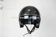 Fiberglass/Carbon 3K open face,one shell motorcycle helmet