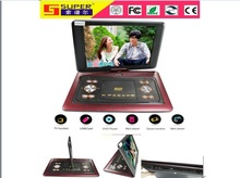 15.4 inch portable and economics small TV wth DVD player
