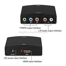 Full HD HDMI to 5 RCA RGB Ypbpr Y-Pb-Pr AV Component Video + R/L Audio Converter Adapter