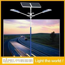 China manufacturer 6M 7M 8M 10M 12M single arm lamp post Q235 steel