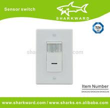 Wall mount PIR light motion sensor,Intelligent microwave motion sensor switch
