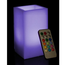 color changing Cube LED Candles with remote control