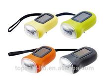 multi color led portable solar light hand crank solar