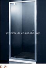 Sliding door fixed door polished portable shower enclosure