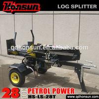 6.5hp B&S Gross and Honda GX200 engine equipped optional professional cutting tool 28 tonne petrol engine log splitter