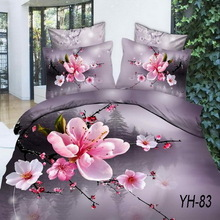 Luxury style soft touch 3d romantic duvet covers from China