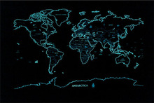 Popular gift star map(world edition) thousand feet in the sky with you a taste of the beauty of the stars