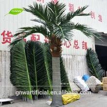 APM047 GNW Fiberglass Bent Trunk Artificial Plastic Leaf Palm Tree High Simulation for Sale
