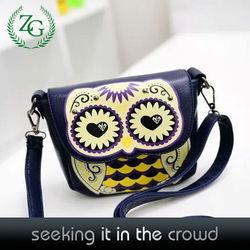 New Owl Design Sling Bags , PU Shoulder Bags , Girls School Bag