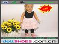 novo estilo 18 polegadas roupas da boneca boneca roupas de bonecas american girl vestido