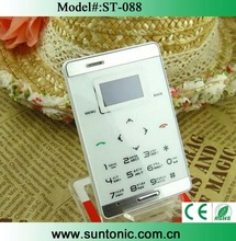 Ultra-thin Credit card mobile phone , built-in battery Bluetooth MP3
