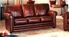 Antique red lounge leather sofa set for sale
