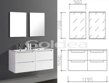 Full back panel bathroom cabinet, Lacquer vanity , Australian style, four drawer