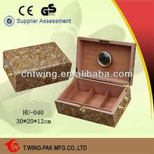 High quality handmade medium size wooden cigar holder box