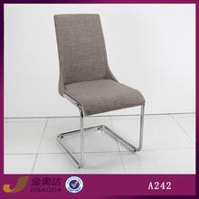 A242b cheap restaurant gray fabric dining chairs metal frames
