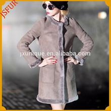 Amazing long pattern girl's sheep fur coat russian winter coat