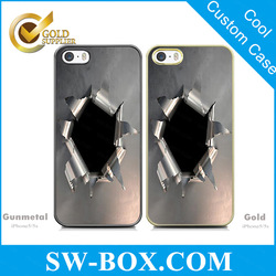 For iPhone 5 5s mobile phone accessories, 3d custom case for iPhone