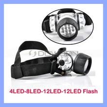 Adjustable 12 White LED Flashlight Head Lamp Light Headlamp Waterproof