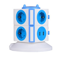 electrical multi vertical socket USB outlet ABS fire resistant universa Electrical Socket power