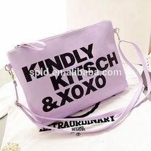 Korean style College girl shoulder bag fashion unique printing letter clutch bag