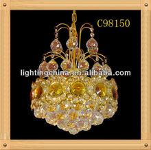 murano glass fiber optic mesh crystal pendant lighting