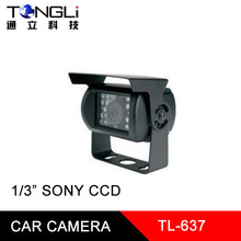"1/"" SONY CCD core Waterproof Car Camera with Metal cover and Infrared night vision feature"