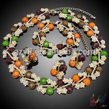 greek goddness costume jewelry/ resin flower jewelry set/ women's jewellery