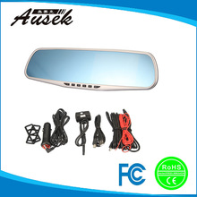 Promotional 1080p hd 170 degree wide angle lens rear view mirror dual camera for inside car/motorcycle