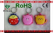 wholesale custom cute round colorful 3D key chain gps tracker