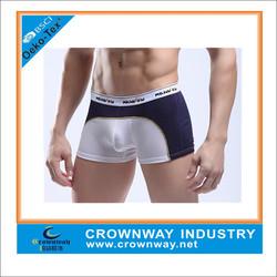 white cotton transparent sexy mens boxer briefs