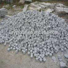 Nice natural split G603 granite cube stone