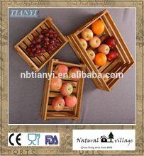 Olive wood fruit basket