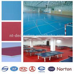 ISO4001 Table Tennis PVC sports flooring rolls NTF-020