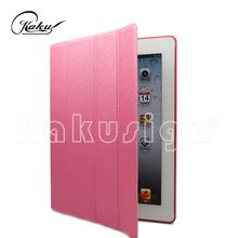 KAKU 4 folds Magnetic Tablet leather bumper case for tablet pc