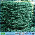 Recubierto de PVC galvanizado alambre de púas que hace
