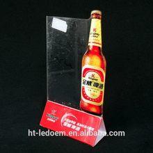 Bottom price Best-Selling wine bottle shaped acrylic menu holder