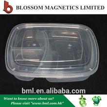 Hot Sale Transparent Plastic 3 Compartment Bento Lunch box