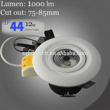 shenzhen COB led downlight with anti-gLare dimmable downlight eyeshield gimbal COB led downlight
