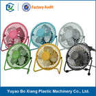 CE and Rohs 5v colorful 4 inch usb personal fans